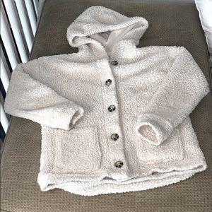 Super Soft Button-up Fleece Sherpa Hoodie